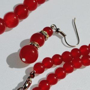 Ru 0385b collier parure sautoir boucles oreilles rubis argent 925 achat vente 1