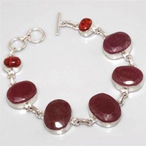 Ru 3877a bracelet rubis argent 925 achat vente