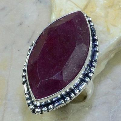 RUB-0364 - Belle BAGUE en RUBIS du CACHEMIRE - T 58 -  Argent 925 - 56 carats - 11.2 gr