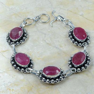 Rub 370a bracelet rubis argent 925 achat vente