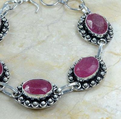 Rub 370b bracelet rubis bijou argent 925 achat vente 1