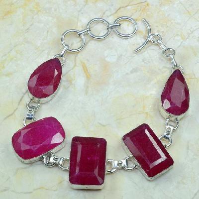 Rub 372a bracelet rubis cachemire bijou argent 925 achat vente