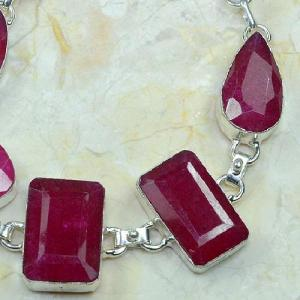 Rub 372c bracelet rubis cachemire bijou argent 925 achat vente