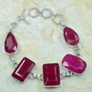 Rub 372d bracelet rubis cachemire bijou argent 925 achat vente