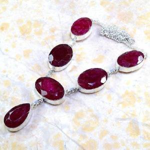 Rub 381d parure collier boucles rubis cachemire bijou argent 925 achat vente