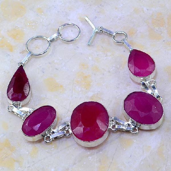 Rub 385a bracelet rubis ruby cachemire bijou argent 925 achat vente