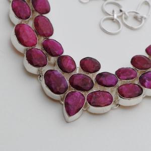 Rub 394b collier parure sautoir rubis argent 925 achat vente