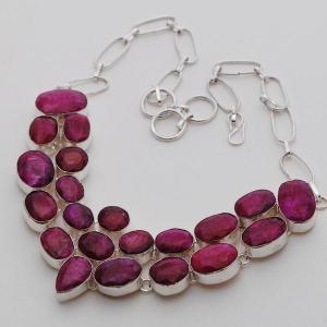 Rub 394d collier parure sautoir rubis argent 925 achat vente