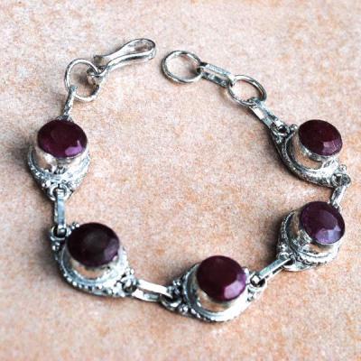 Rub 399a bracelet rubis achat vente bijou argent 925