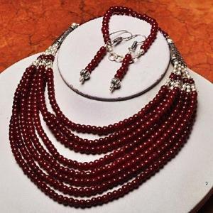 Rub 419a parure collier boucles bracelet rubis cachemire bijou achat vente