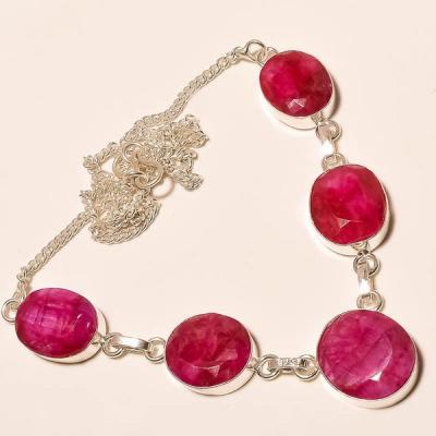 Rub 438a collier parure sautoir rubis cachemire achat vente bijoux argent ethniques