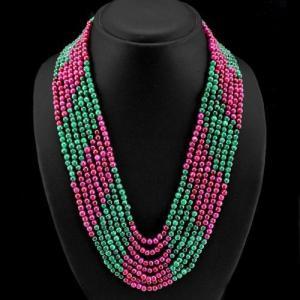 Rub 444a collier parure sautoir rubis emeraude cachemire achat vente bijoux argent ethniques