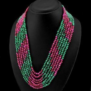 Rub 444b collier parure sautoir rubis emeraude cachemire achat vente bijoux argent ethniques