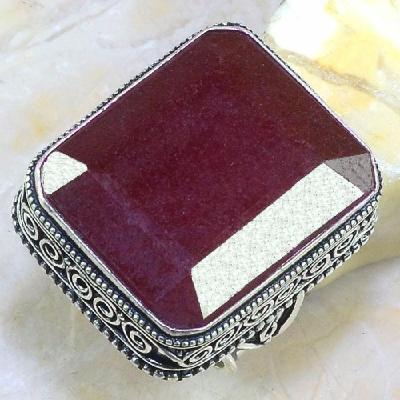 Rub 447a bague chevaliere medievale t64 rubis emeraude argent 925 achat vente bijoux 1