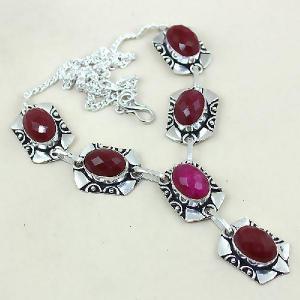 Rub 451a collier parure sautoir rubis cachemire achat vente bijoux argent ethniques