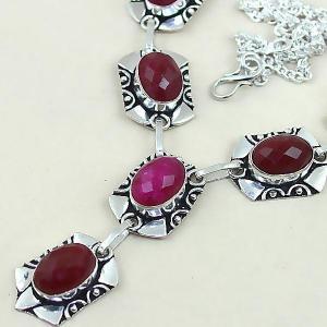Rub 451b collier parure sautoir rubis cachemire achat vente bijoux argent ethniques