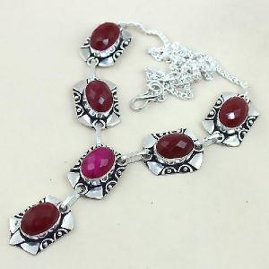 Rub 451d collier parure sautoir rubis cachemire achat vente bijoux argent ethniques