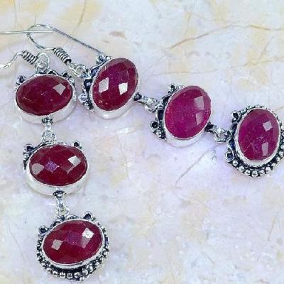 Rub 462c boucles pendants oreilles rubis cachemire achat vente bijoux argent ethniques