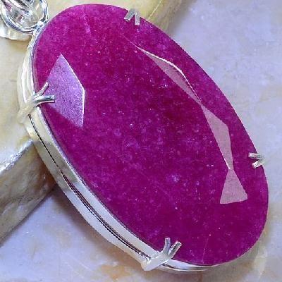 Rub 483c pendentif pendant rubis argent 925 achat vente bijoux