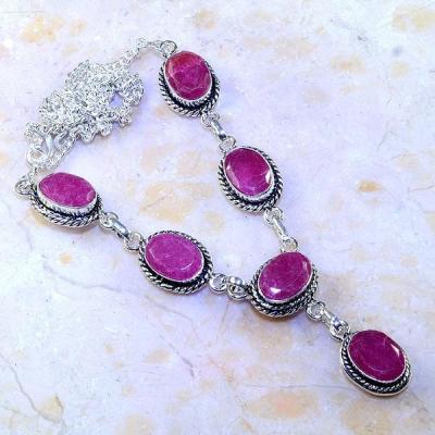 Rub 488a collier parure sautoir rubis cachemire achat vente bijoux argent ethniques