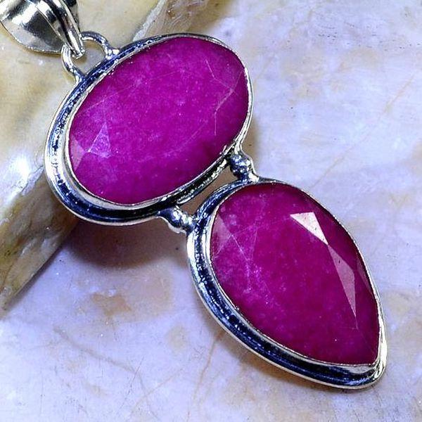 Rub 498c pendentif pendant rubis argent 925 achat vente bijoux