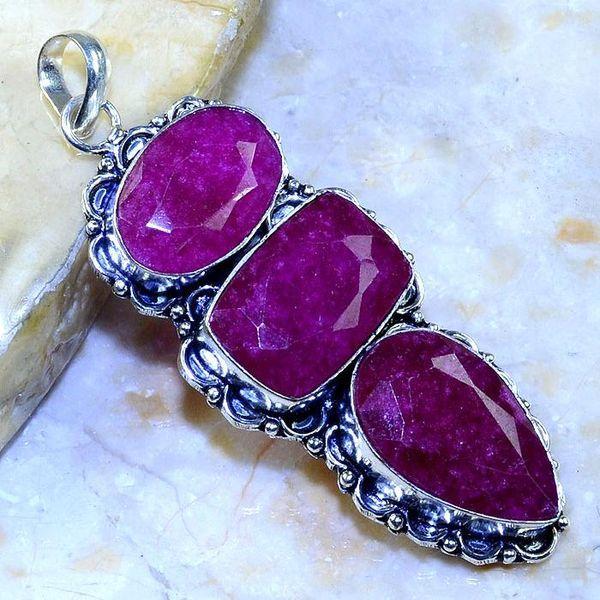 Rub 503a pendentif pendant rubis argent 925 gothique achat vente bijoux