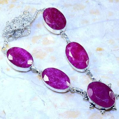 Rub 506a collier parure sautoir rubis argent 925 gothique achat vente bijoux