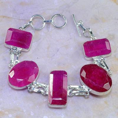 Rub 508a bracelet rubis argent 925 gothique achat vente bijoux