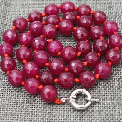 Rub 601a collier parure sautoir 10mm rubis cachemire achat vente bijoux ethniques