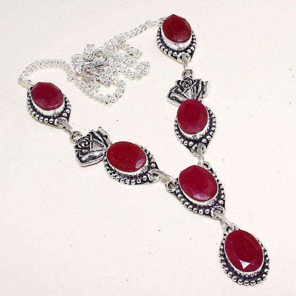 Rub 618a collier parure sautoir rubis cachemire bijou ethnique achat vente
