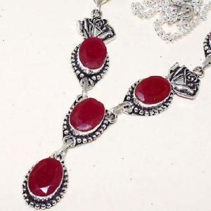 Rub 618b collier parure sautoir rubis cachemire bijou ethnique achat vente
