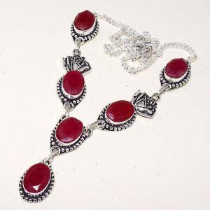 Rub 618d collier parure sautoir rubis cachemire bijou ethnique achat vente