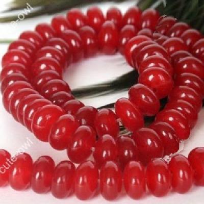 Rub 630b lot 44 perles rubis 5x7mm polies achat vente loisirs creatifs
