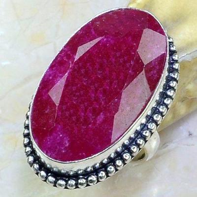 Rub 640a bague chevaliere t54 rubis medieval argent 925 achat vente bijoux 1900