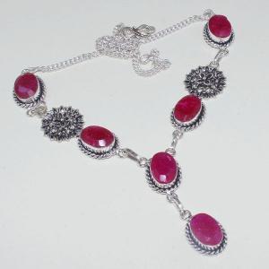 Rub 652a collier 10x15mm parure sautoir rubis cachemire bijou ethnique achat vente