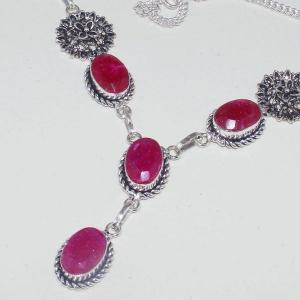 Rub 652b collier 10x15mm parure sautoir rubis cachemire bijou ethnique achat vente
