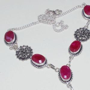 Rub 652c collier 10x15mm parure sautoir rubis cachemire bijou ethnique achat vente