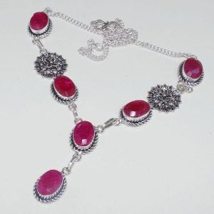 Rub 652d collier 10x15mm parure sautoir rubis cachemire bijou ethnique achat vente
