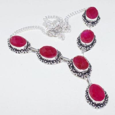 Rub 653a collier parure sautoir 10x15mm parure sautoir rubis cachemire bijou ethnique achat vente