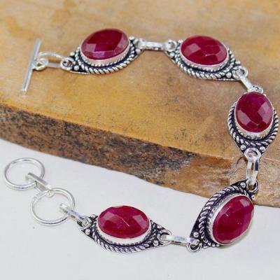 Rub 654d bracelet 10x15mm parure sautoir rubis cachemire bijou ethnique achat vente