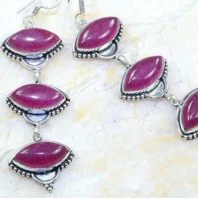 Rub 681c boucles pendants oreilles rubis 10x14mm cachemire bijou ethnique achat vente argent 925