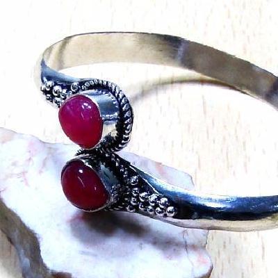 Rub 697b bracelet torque rubis cachemire reglable achat vente bijou argent 925