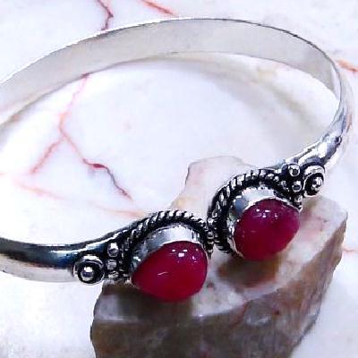 Rub 698c bracelet torque rubis cachemire reglable achat vente bijou argent 925