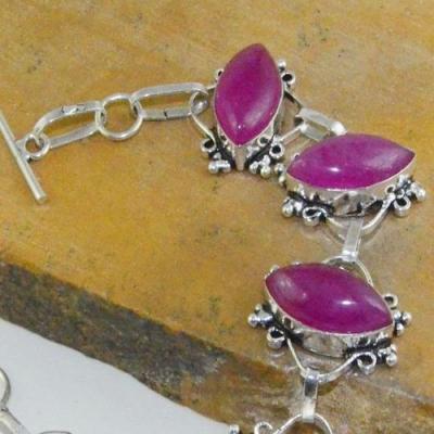 Rub 714b bracelet rubis cachemire 24gr reglable achat vente bijou argent 925