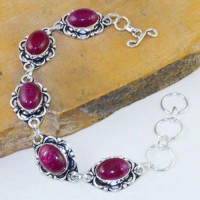 Rub 715a bracelet rubis cachemire 24gr reglable achat vente bijou argent 925