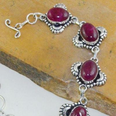 Rub 716b bracelet rubis cachemire 23gr reglable achat vente bijou argent 925