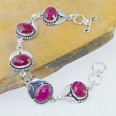 Rub 717a bracelet rubis cachemire 23gr reglable achat vente bijou argent 925