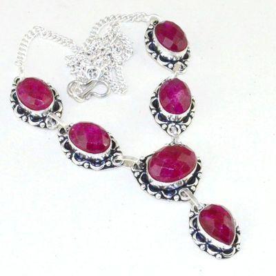 Rub 727a collier rubis cachemire 31gr argent 925