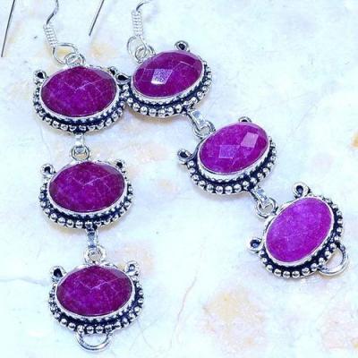 Rub 739c boucles pendants oreilles rubis cachemire achat vente bijou argent 925