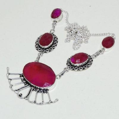 Rub 742a collier parure sautoir rubis cachemire 20x30mm achat vente bijou argent 925